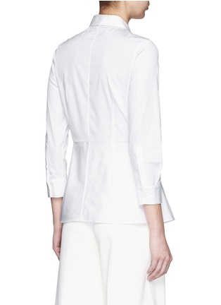 Back View - Click To Enlarge - Theory - 'Eyodis' peplum hem cotton poplin shirt