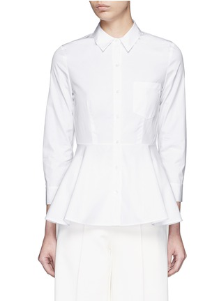 Main View - Click To Enlarge - Theory - 'Eyodis' peplum hem cotton poplin shirt