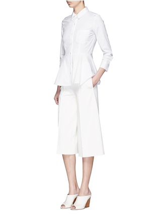 Figure View - Click To Enlarge - Theory - 'Eyodis' peplum hem cotton poplin shirt