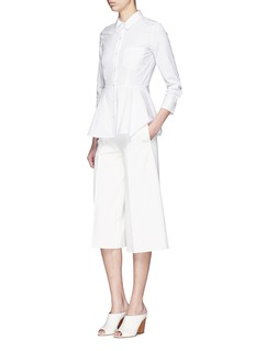 THEORY 'Eyodis' peplum hem cotton poplin shirt