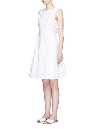 Front View - Click To Enlarge - Theory - 'Kalsington' cotton poplin A-line dress