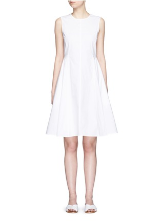 Main View - Click To Enlarge - Theory - 'Kalsington' cotton poplin A-line dress