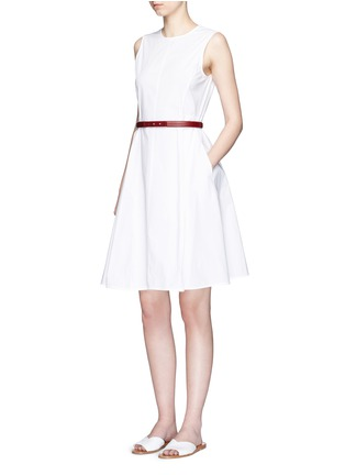Figure View - Click To Enlarge - Theory - 'Kalsington' cotton poplin A-line dress