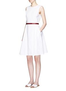THEORY'Kalsington' cotton poplin A-line dress