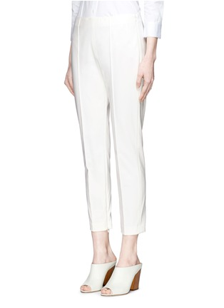 Front View - Click To Enlarge - Theory - 'Alettah' pintuck cropped skinny pants
