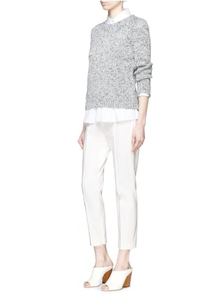 Figure View - Click To Enlarge - Theory - 'Alettah' pintuck cropped skinny pants