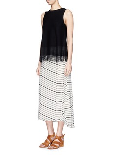 THEORY 'Vivridge' Bevel print silk skirt