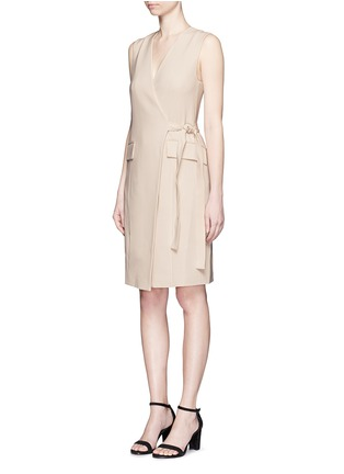 Front View - Click To Enlarge - Theory - 'Livwilth' wrap front crepe dress