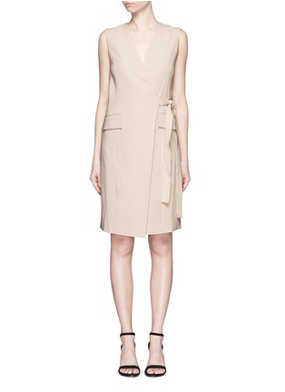Main View - Click To Enlarge - Theory - 'Livwilth' wrap front crepe dress