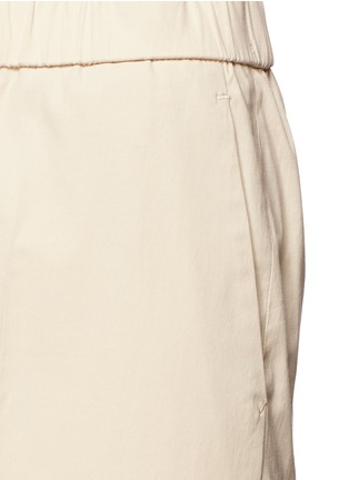 Detail View - Click To Enlarge - Theory - 'Raoka W' cropped wide leg cotton poplin pants