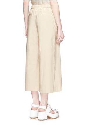 Back View - Click To Enlarge - Theory - 'Raoka W' cropped wide leg cotton poplin pants