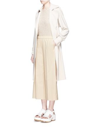 Figure View - Click To Enlarge - Theory - 'Raoka W' cropped wide leg cotton poplin pants