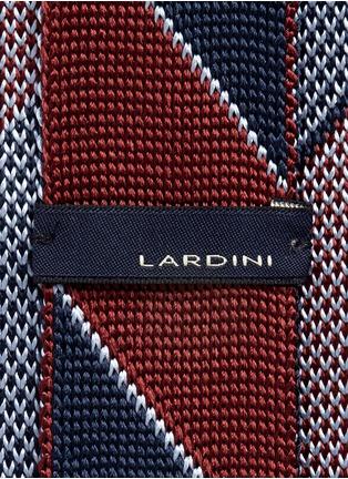 Detail View - Click To Enlarge - Lardini - Diagonal stripe silk knit tie