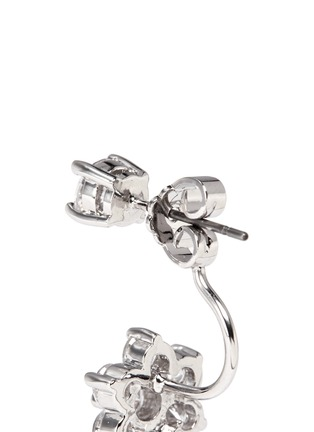 Detail View - Click To Enlarge - CZ by Kenneth Jay Lane - Cubic zirconia floral drop stud earrings
