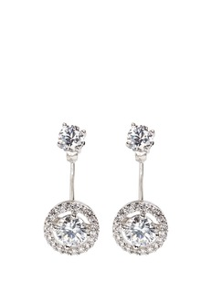 CZ by Kenneth Jay Lane Cubic zirconia halo drop stud earrings