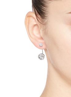 CZ by Kenneth Jay LaneCubic zirconia halo drop stud earrings