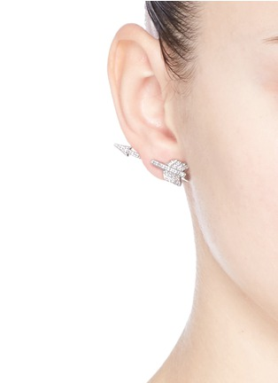 Figure View - Click To Enlarge - CZ by Kenneth Jay Lane - Cubic zirconia pavé arrowhead earrings