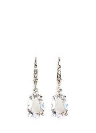 Main View - Click To Enlarge - CZ by Kenneth Jay Lane - Cubic zirconia pavé dangle stud earrings