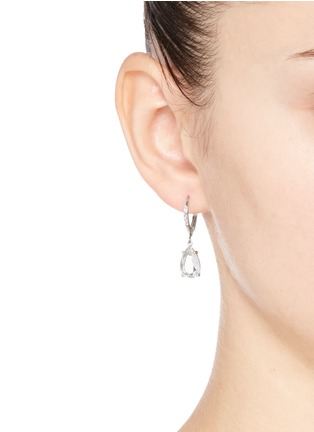 Figure View - Click To Enlarge - CZ by Kenneth Jay Lane - Cubic zirconia pavé dangle stud earrings