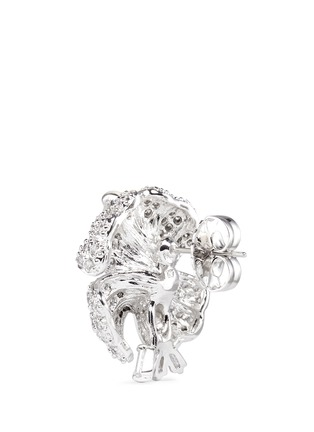 Detail View - Click To Enlarge - CZ by Kenneth Jay Lane - Cubic zirconia pavé floral stud earrings