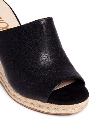 Detail View - Click To Enlarge - Sam Edelman - 'Bonnie' leather espadrille wedge mule sandals