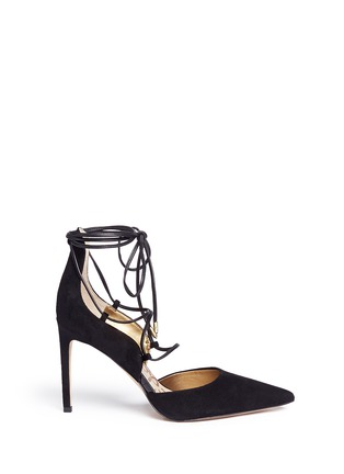 Main View - Click To Enlarge - Sam Edelman - 'Dayna' suede lace-up pumps