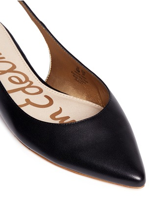 Detail View - Click To Enlarge - Sam Edelman - 'Hadley' slingback leather flats