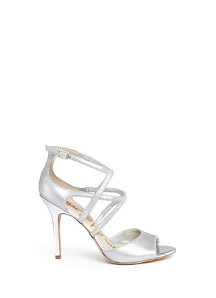 Main View - Click To Enlarge - Sam Edelman - 'Aeryn' metallic leather strappy sandals
