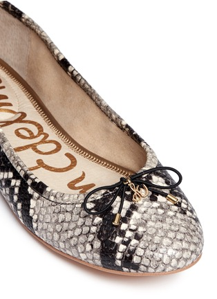 Detail View - Click To Enlarge - Sam Edelman - 'Felicia' python embossed ballet flats