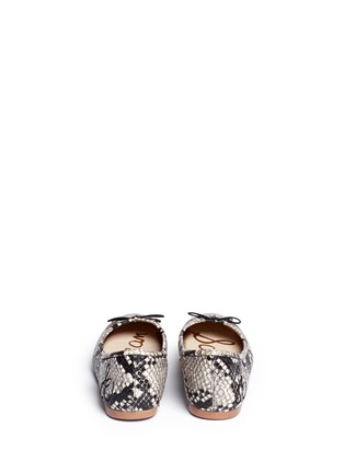 Back View - Click To Enlarge - Sam Edelman - 'Felicia' python embossed ballet flats