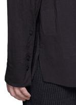 Pleat side cotton voile shirt