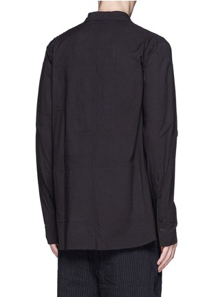 Back View - Click To Enlarge - Ziggy Chen - Pleat side cotton voile shirt