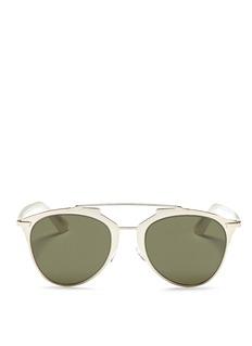 DIOR'Dior Reflected' double bridge wire frame aviator sunglasses