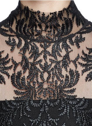 Detail View - Click To Enlarge - Ms MIN - Floral embroidery mesh top
