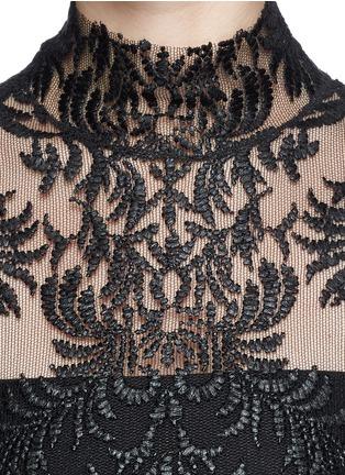 细节 - 点击放大 - MS MIN - 花卉刺绣网薄透视背心