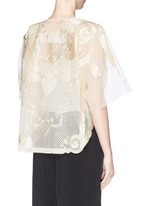 Lion embroidery silk gauze top