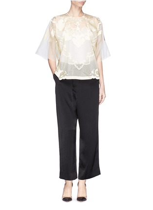 Figure View - Click To Enlarge - Ms MIN - Lion embroidery silk gauze top