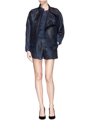 Figure View - Click To Enlarge - Ms MIN - Dragon jacquard side zip jacket