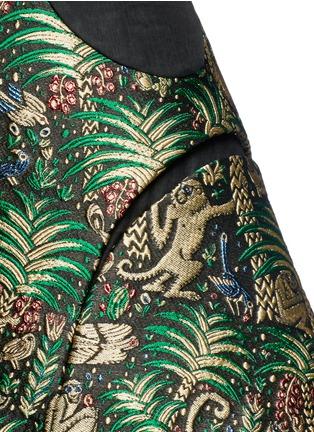 细节 - 点击放大 - DELPOZO - 猴子提花A字形半身裙