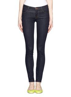 J BRANDContrast-stitch mid-rise skinny jeans