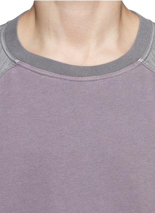 Detail View - Click To Enlarge - Haider Ackermann - Contrast sleeve cotton sweatshirt