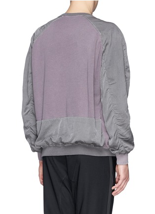 Back View - Click To Enlarge - Haider Ackermann - Contrast sleeve cotton sweatshirt