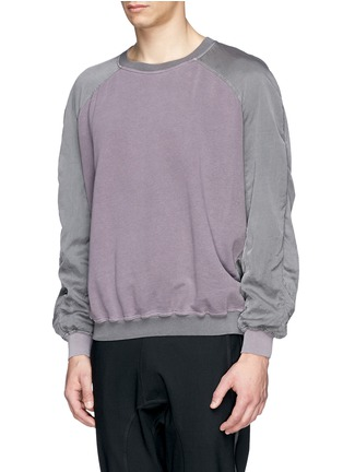 Front View - Click To Enlarge - Haider Ackermann - Contrast sleeve cotton sweatshirt