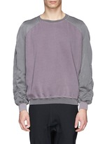 Contrast sleeve cotton sweatshirt