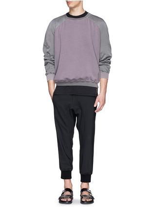 Figure View - Click To Enlarge - Haider Ackermann - Contrast sleeve cotton sweatshirt