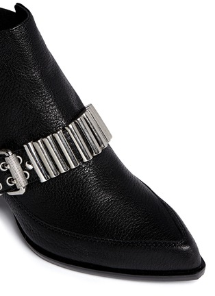 Detail View - Click To Enlarge - McQ Alexander McQueen - 'Misty' bullet chain leather Chelsea boots