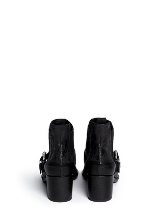 Back View - Click To Enlarge - McQ Alexander McQueen - 'Misty' bullet chain leather Chelsea boots