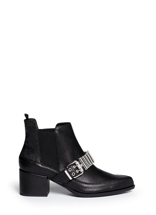 Main View - Click To Enlarge - McQ Alexander McQueen - 'Misty' bullet chain leather Chelsea boots