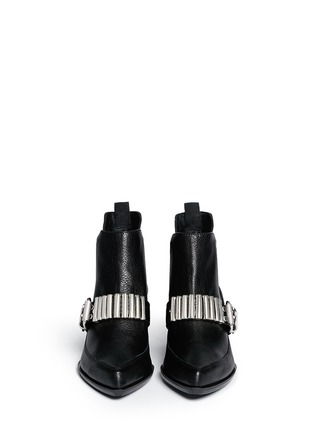 Figure View - Click To Enlarge - McQ Alexander McQueen - 'Misty' bullet chain leather Chelsea boots