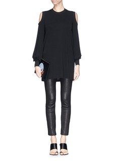 GIVENCHY Cold shoulder jersey top